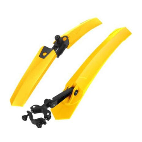 Quick Release Road Mountain Bike Front/Rear Mud Guards, Yellow