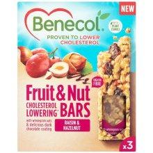 Benecol Raisin and Hazelnut Cereal Bars 3 x 40g