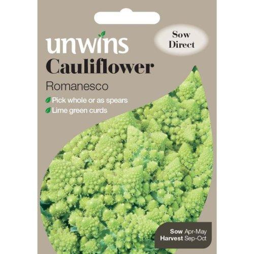 Unwins Grow Your Own Cauliflower Romanesco Vegetable Seeds