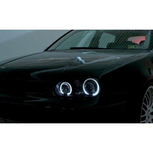 Volkswagen Golf Mk4  1998-2004 Black Angel Eyes Headlights Pair