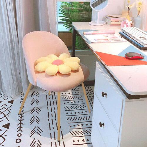 2X Velvet Fabric Dining Chairs Metal Leg Living Room Kitchen Chair