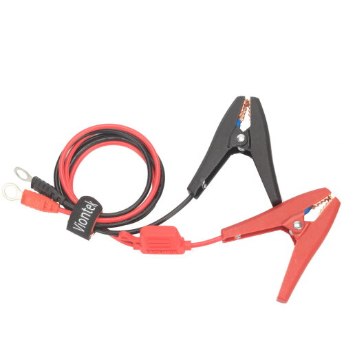 """(3 Feet 0.9 Meter) Clamp to 3/8"""" Eyelet Terminal Battery Charge Cable"""