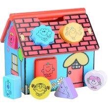 Mr Men, Little Miss, Wooden Shape Sorter House, Little Miss character Shapes