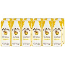 Malibu and Sparkling Pineapple Can, 12 x 250 ml