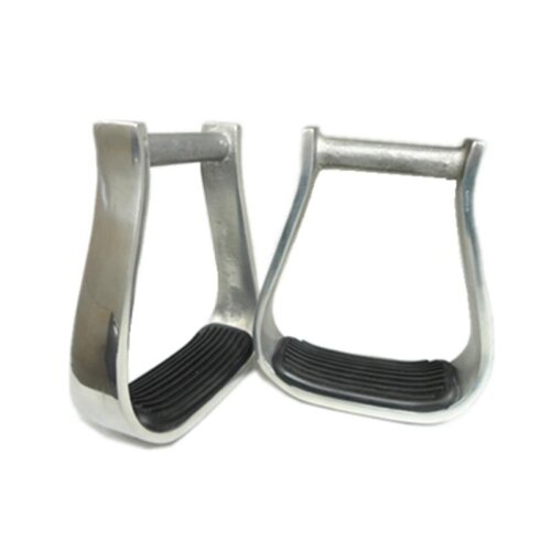 (Type) Western Aluminum Barrel Racing Stirrups With Black Rubber Pad Horse Products