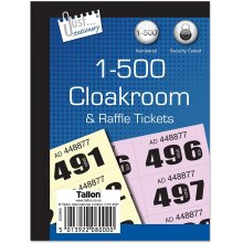 Just stationery 2 X 1-500 Cloakroom Ticket