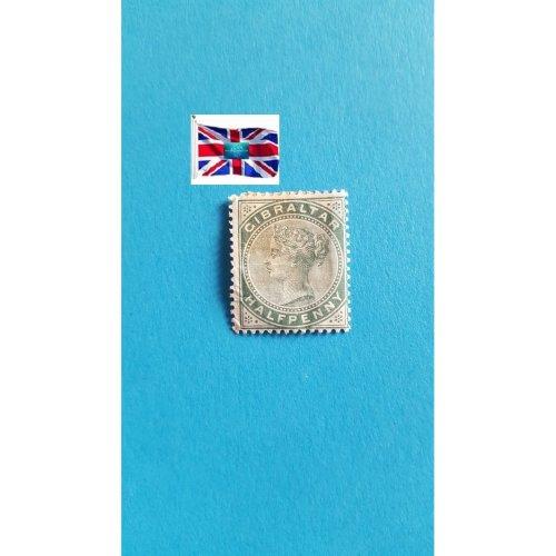 """Gibraltar 1887 """" Queen Victoria definitive s 1886-1887"""" ½ p - Gibraltar penny"""