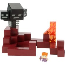 Minecraft FVG78 Wither vs. Alex in Enchanted Armour Playset