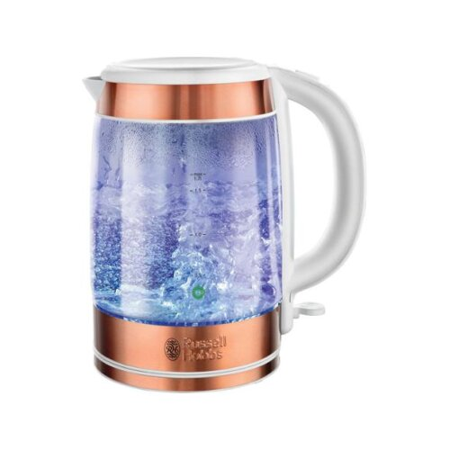 Russell Hobbs 21603 3000W 1.7L Glass Kettle, Copper