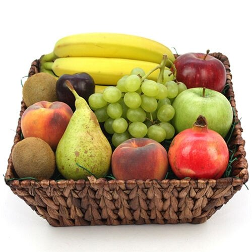 Fruit Lovers Fruit Basket - Fruit Gift Baskets and Gift Hampers with Personal Message Attached