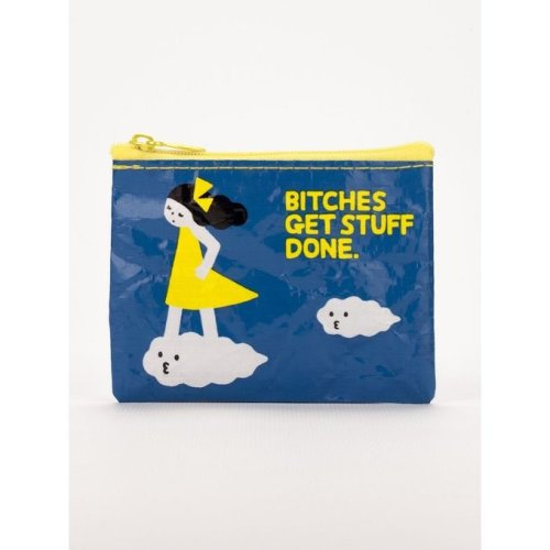 """Coin Purse - Blue Q - Bitches Get Stuff Done 4x3"""" Wallet Bag QA567"""