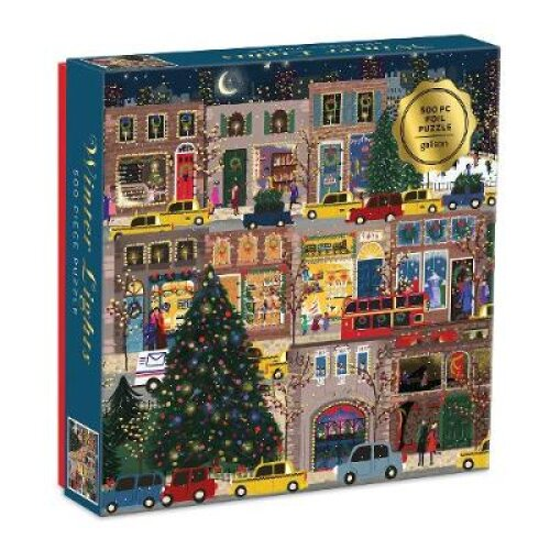 Winter Lights Foil Puzzle 500 Piece Puzzle