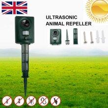 UK Ultrasonic Cat Dog Fox Pest Battery Repeller Scarer Deterrent