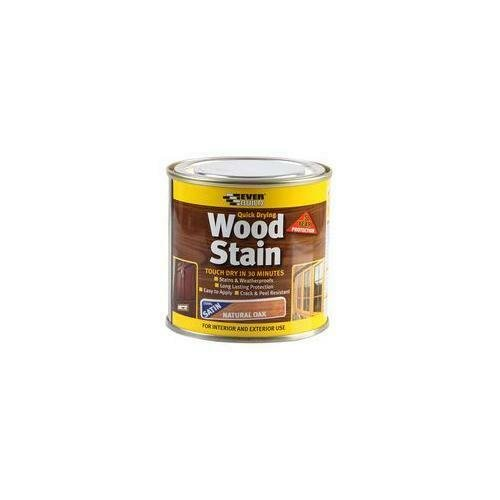 Everbuild WSTAINSNO02 Natural Oak Wood Stain - 250ml