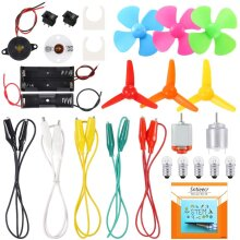 Electric Circuit Motor Kit Science Experiment Educational Montessori Learning Kits for Kids DIY STEM Engineering Project