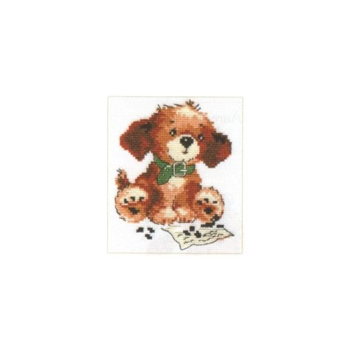 Alisa Counted Cross Stitch Kit - Tosha the Puppy