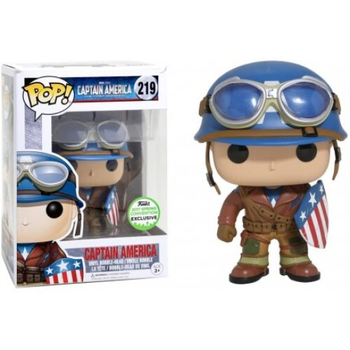 Funko Pop Marvel 219 WWII Captain America The First Avenger ECCC 2017 Spring Convention Exclusive