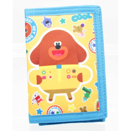 Hey Duggee Yellow Tri-Fold Childrens Wallet Hook & Loop