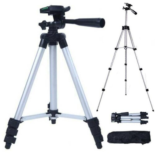 Adjustable Camera Tripod + Stand Holder +Bag For Smart Phone iPhone Samsung