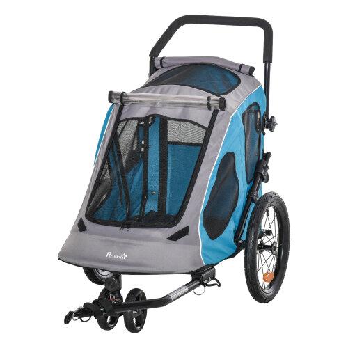 PawHut 2-IN-1 Dog Bike Trailer Pet Carrier Stroller Reflector 140 x 71 x 105cm