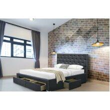 Dhaka 4 Drawer Linen Fabric Bed