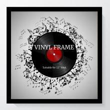"12"" Vinyl Oxford Black Frame - Glass Window"