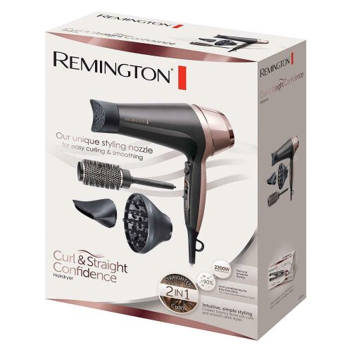 (Buy 1) Remington Curl and Straight Confidence Hairdryer
