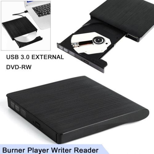 USB 3.0 External DVD-RW Drive Slim RW CD R Burner Reader
