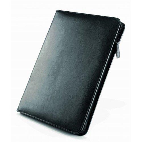 A4 Falcon Leather Conference Folder - FI6512 Black