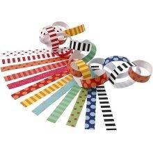 Paper Chains, L: 16 cm, W: 15 mm, asstd colours, 400 mixed Pre Cut Kids