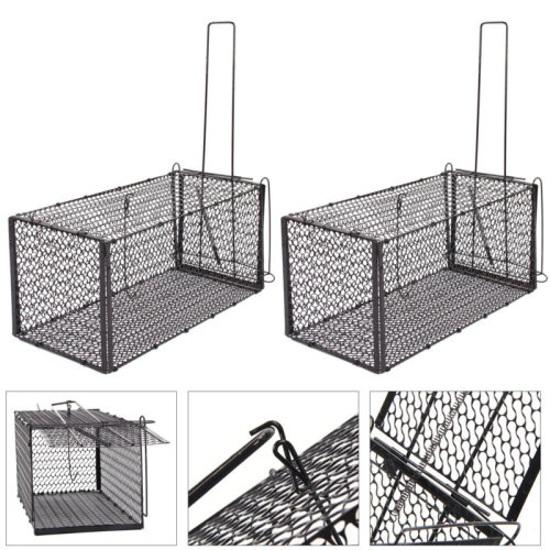 2x Rat Mouse Trap Catcher Humane Live Animal Rodent Mice Bait Cage