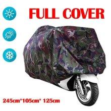 Waterproof Motorcycle Cover Dustproof Motorbike Shelter Camouflage