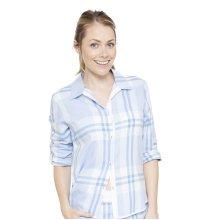 Cyberjammies 4058 Women's Amelia Blue Plaid Pyjama Top