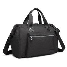 KONO Black Baby Changing Holdall | Nappy Changing Shoulder Bag