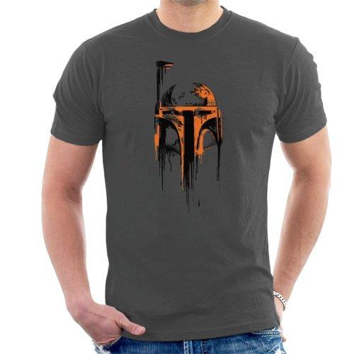 Star Wars Boba Fett Paint Helmet Men's T-Shirt