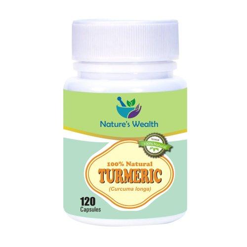 Natures Wealth: 120 Turmeric (Curcuma longa) capsules