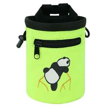 AMc Rock climbing Panda Design chalk Bag with Adjustable Belt, Fluorescent