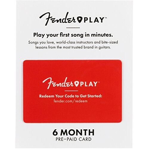 Fender Play 6 Month Pre-Paid Gift card