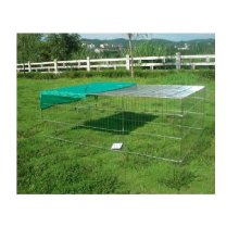 Metal Pet Play Pen With Roof | Animal Exercise Enclosure