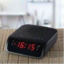 Daewoo Radio AC Adaptor LCD Display Alarm Function Night Bed Clock