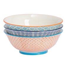 Porcelain Salad Bowl China Fruit Food Serving - 3 Designs - 203mm