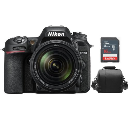 NIKON D7500 KIT AF-S 18-140MM F3.5-5.6G ED VR DX + Bag +16gb SD card