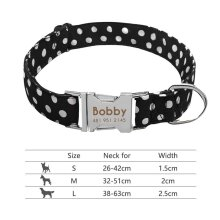 nylon-dog-collar-personalized-pet-collar-engraved-id-tag-nameplate-reflective-for-small-medium-large-dogs-pitbull-pug 008-Black