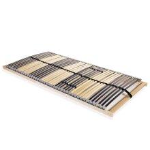 vidaXL Slatted Bed Base with 42 Slats 7 Zones 140x200cm Bedroom Furniture