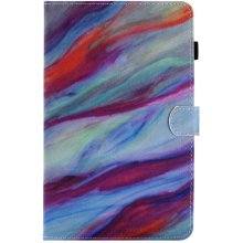 UK-Cherry Galaxy Tab A6 10.1-inch 2016 Case,Flip PU Leather Wallet Tablet Case for Samsung Galaxy Tab A6 10.1-inch,Colorful marble