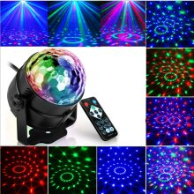 3W RGB Laser Projector LED Stage Light Sound Activated Disco Party Lamp