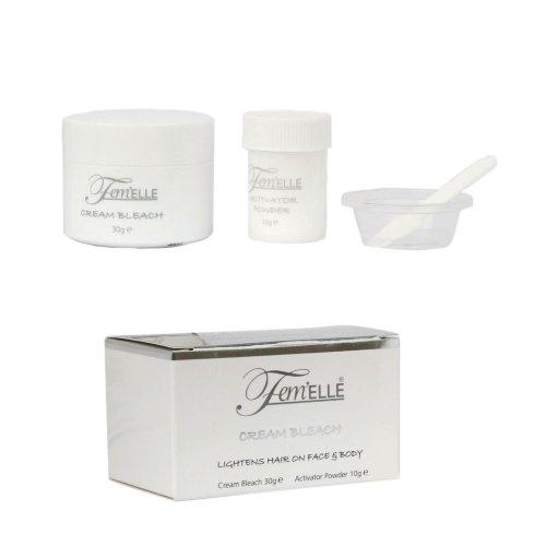 Fem'elle Cream Bleach 30g - Hair Lightening Treatment On Face And Body