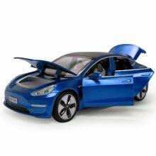 1:32 Tesla Model 3 Alloy Car Model Kids Gift Blue