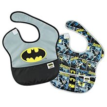 Bumkins DC Comics Waterproof SuperBib 2 Pack Batman Icon (6-24 Months)