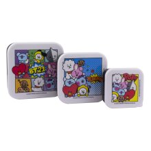BT21 Set of 3 Snack Boxes | Reusable Lunch Storage | Officially Licensed